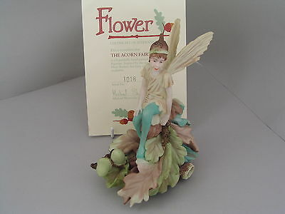 Danbury Mint Flower Fairies The Acorn Fairy, With Certificate Of Authenticity