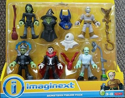 Imaginext Universal Monsters Figure Pack Mad Scientist Lab Dracula mummy Zombie