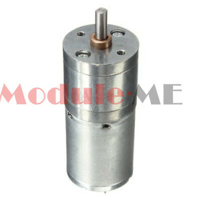 Speed Reduction Gear Motor Electric 12V DC 60RPM Powerful Torque 25mm UK