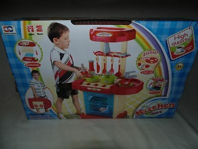 Childrens Play Portable Kitchen Set RED