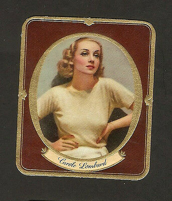 CAROLE LOMBARD EMBOSSED CIGARETTE PASSION CARD 1930s NU:14 ROSS PHOTO PARAMOUNT