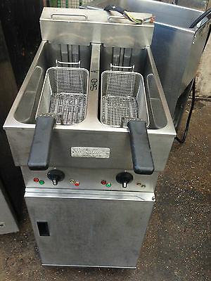 Valentine Fryer Twin Tank Electric Chips Fryer Used Commercial Free Standing