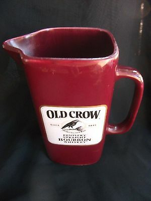 Wade Old Crow Kentucky Straight Bourbon Whiskey Pitcher - Maroon
