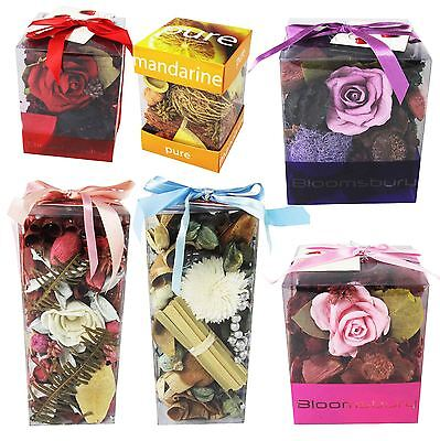 Premium Gift Boxed Potpourri in Clear Display Case Home Fragrance Gift