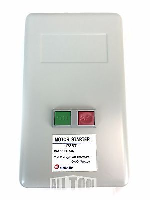 5HP, Single Phase, 230V, 34Amp, ON/OFF Button Magnetic Motor Starter
