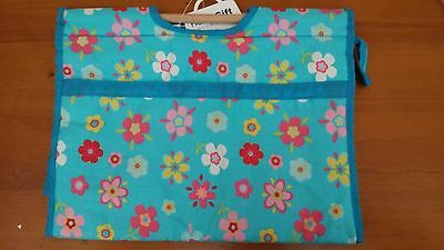 BNWT-Retro Floral Design on Turquiose-Project/Knitting/Crochet/Craft Bag