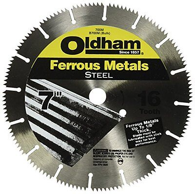 Oldham 700M 7-Inch 16T Steel Saw Blade for Ferrous Metals