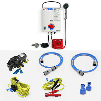 Joolca Hottap Outing-Lpg Portable Water Heater Camp-Shower+Gasknect Couple Set