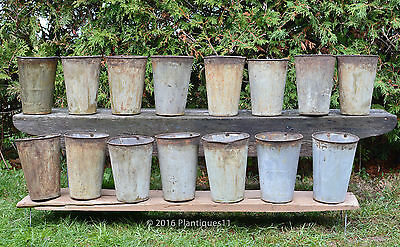 15 LOT Old Vintage Quebec ORIGINAL PAINT small maple syrup SAP BUCKETS Canada