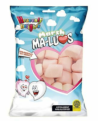 Heavenly Delights Marshma-Luvs 1 x 150g / 100% HMC Halal Heart Shaped Mallows