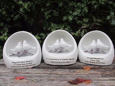 Christmas Graveside Memorial Remembrance Ornament- Christmas Doves- Variations