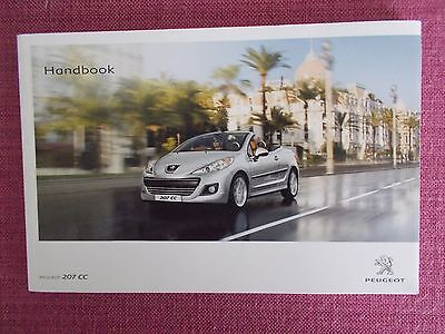 Peugeot 207 Cc Coupe/cabriolet Owners Manual - Guide - Handbook. (Pe 995)