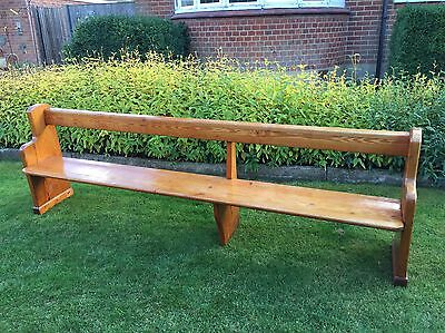 Antique Pitch Pine Church Pew Bench Settle FREE COURIER TO MOST POSTCODES