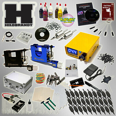 PROFESSIONAL TATTOO KIT Hildbrandt Advanced Rotary 2 MACHINE Gun SET