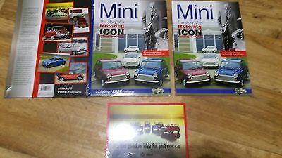 Mini The story of a Motoring ICON full colour book/sealed postcards set. XMAS !