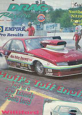 August 1 1992 Drag Review Magazine-Ihra-Car Racing-Billy Huff-Willford Cover