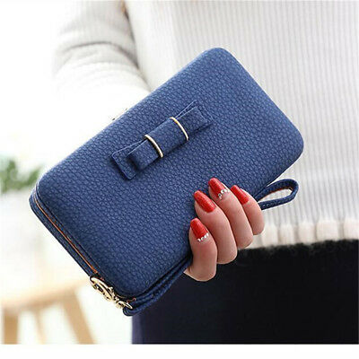 Women Lady Leather Clutch Long Wallet Phone Card Holder Purse Handbag USWarehous