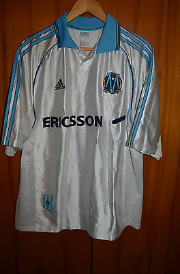 Olympique Marseille France 1998/1999 Home Football Shirt Jersey Maglia Adidas