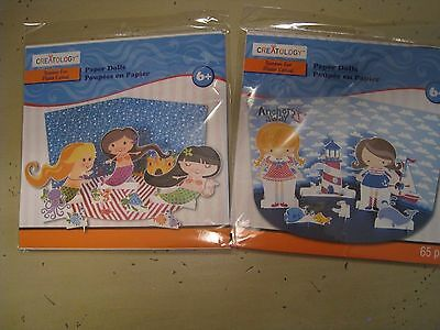 Mermaid AND NAUTICAL PAPER DOLLS- SET OF 2- NWT ADORABLE!!