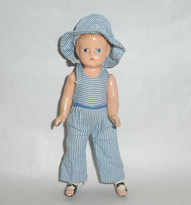 """Vintage 1930's Effanbee 6"""" Wee Patsy Composition Doll in Original Clothes"""