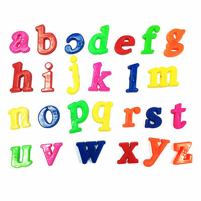 26x Lower Case ALPHABET LETTERS Magnetic Fridge Baby Kids Learning Creative Toys