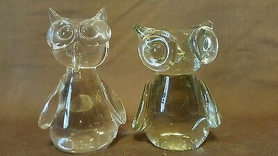 Vintage Bubble Eyes Paperweights - Figural Animal Cats  - (2)