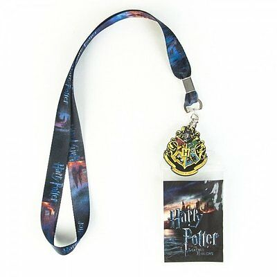 Harry Potter Hogwarts Castle or Deathly Hallows Lanyard with Charm Licensed
