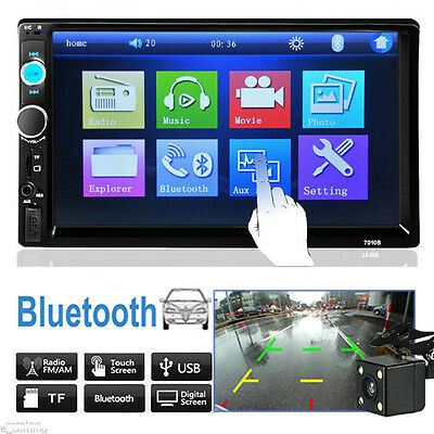 HD Car Stereo Radio 2 DIN FM/MP5/MP3/USB/AUX Touch Screen Bluetooth With Camera