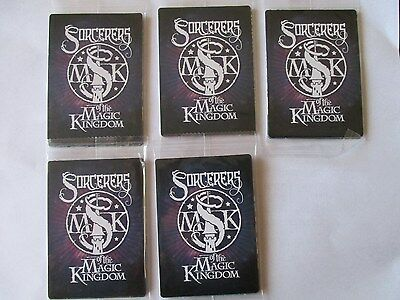 5 ~`New Unopened Packs Disney Sorcerers of The Magic Kingdom Cards ( 25 Cards )