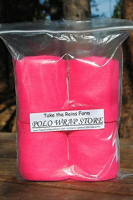 *Take the Reins* Horse Polo Leg Wraps  HOT PINK Color  HORSE sized!