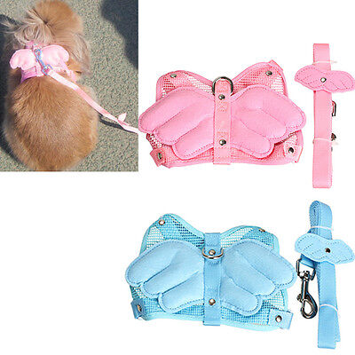 Adjustable Angle Wing Rabbit Ferret Pet Dog Puppy Harness Leash Lead Strap Rope