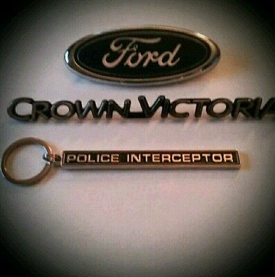 Police Interceptor badge keychain(only)