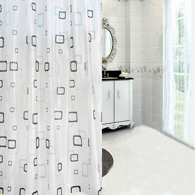 Geometry Style Waterproof Shower Curtain Shading Bathroom Curtains With Hooks