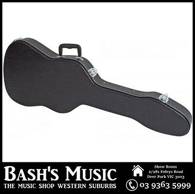 Electric Guitar Shaped Hard Case Plywood Strat Shaped Black