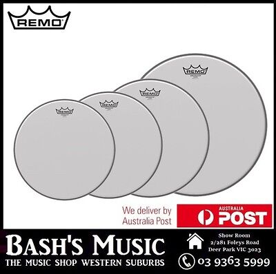 Remo Ambassador Coated Drumheads 4 Piece Set 10 12 14 16 Drum Skins – NEW