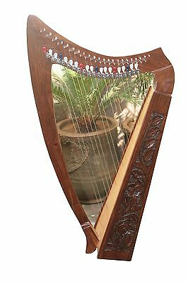 Deluxe 22 String Celtic Harp - Rosewood Irish Harp+ Free Bag Top quality-