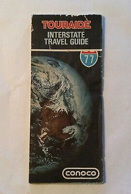 1977 Conoco Interstate Travel Guide and USA Vintage Road Map