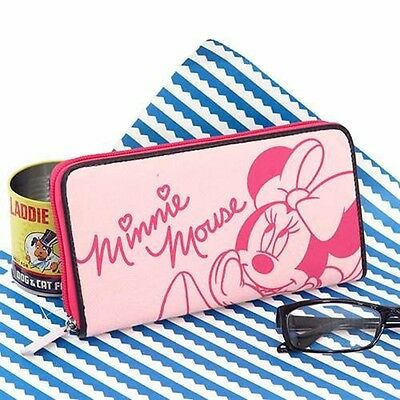 NEW Disney Minnie Mouse Sweat Round Long Wallet from Japan