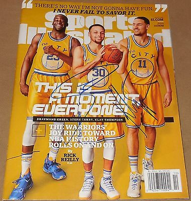 Stephen Curry & Klay Thompson Signed Golden State Warriors Sports Illustrated PF