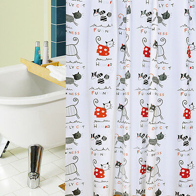 Waterproof Shower Curtain Shading Bathroom Blind Curtains With Hooks Fish Style