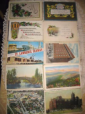**LOT OF 100 POSTCARDS** Mixed US Mid Century, Christmas Early 1900's