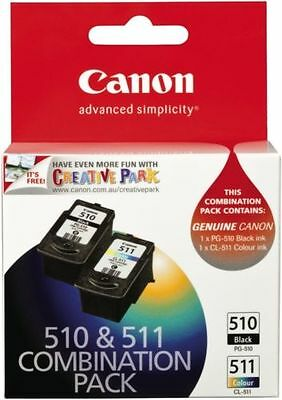 Canon PG-510 CL-511 Twin pack Blk 220 Pages,Colour 244 Pages