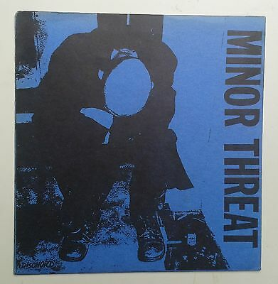 "Minor Threat Filler 7"" Rare original Blue 4th Press Dischord 3 Fugazi Hardcore"