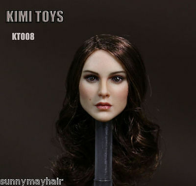 """1:6 KIMITOYS KT008 Long Curls Hair Female Head Carving Fit 12"""" Action Figures"""