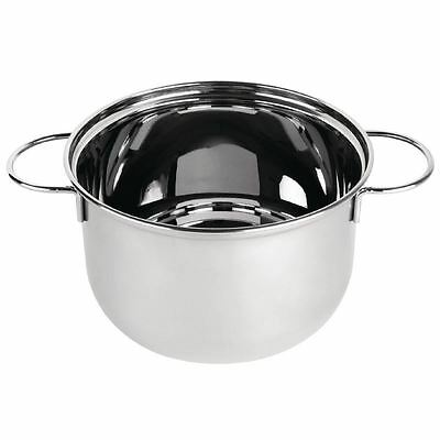 Mussel Pot Stainless Steel - 1kg 200mm dia Cooking Serving Kitchen Stockpot
