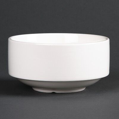 6x Lumina Fine China Stacking Soup Bowls 400ml Kitchen Serving Dishes Tableware