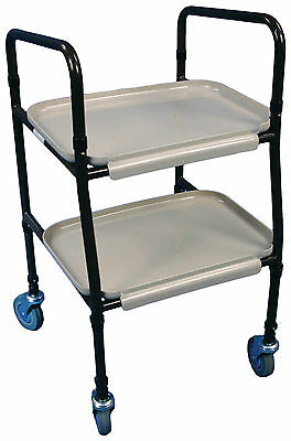 Tea Trolley Walking Aid  2 Tier Removable Tray