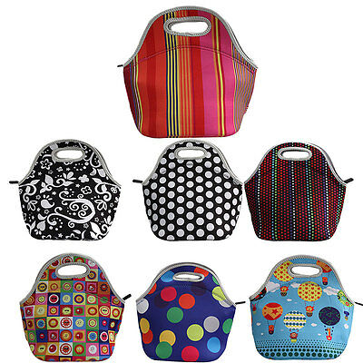Waterproof Insulated Neoprene Lunch Box Bag Tote Thermal Picnic Bag Cool Bag GT