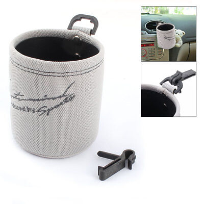 Vehicle Car Auto Beverage Bottle Can Drinks Cup Stand Holder Storage Gray Black