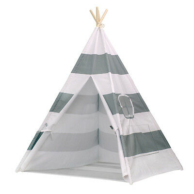 Children Kids Teepee Tipi Play Tent Indoor/Outdoor Play House w/Bottom
